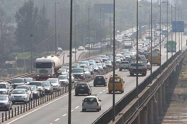 congestion - 5 sur puente maipo